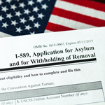 a copy of the application for asylum and for withholding of removal