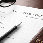 Generic form that says visa application